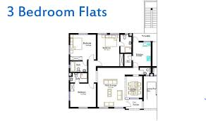 three bedroom flat floor plan image of a 3 bedroom flat plan