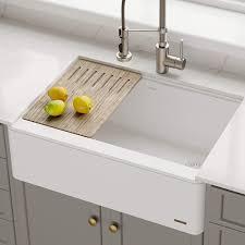bowl kitchen sink for 30 inch cabinet kraus kgf1 30 inch apron sink single kitchen bowl
