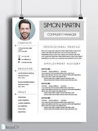 16 best template cv images on pinterest cv resume template
