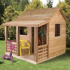 cedar shed cabin cedar playhouse with classic slat style side