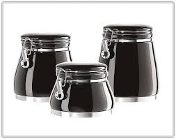 black kitchen canisters black kitchen canisters sets home design ideas