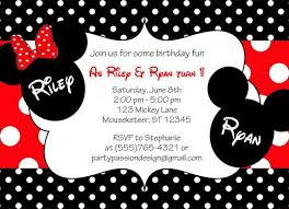 mickey and minnie mouse birthday invitations for twins 42540