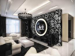 terrific black and white living room wallpaper bedroom ideas