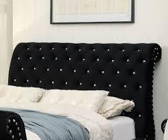 Black King Size Platform Bed Noella Black King Platform Bed Cm7128bk Ek Savvy Discount Furniture