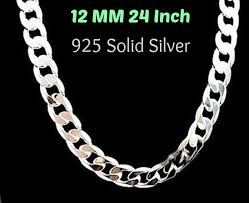necklace silver mens images Silver mens necklace 925 silver jpg