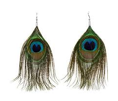 peacock feather earrings niceeshop women fashion boho style rhinestone