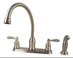 moen caldwell kitchen faucet moen caldwell collection 2 handle kitchen faucet with side spray