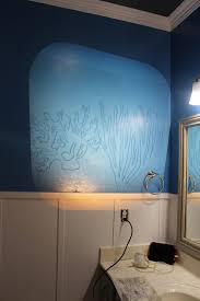Blue Green Bathroom Ideas by Diy Under The Sea Themed Kid U0027s Bathroom Hometalk