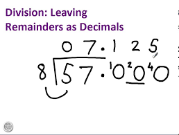 division with remainders as decimals youtube