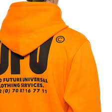 ufu ad hoodie from the f w2017 18 used future collection in orange