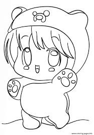 kawaii chibi coloring pages printable