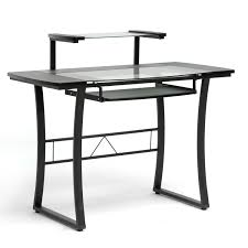 wood computer case office furniture folding desk with natural