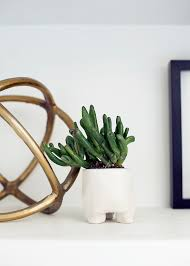 create your own mini succulent clay planter diy on coco kelley