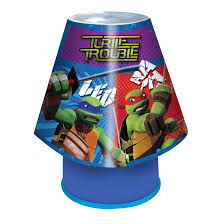 ninja turtles blue table lamp departments diy at b u0026q