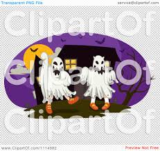 haunted house clipart free clipart children dressed in ghost costumes in front of a haunted