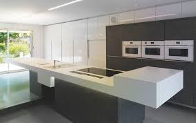 contemporary kitchen corian island image 01 by