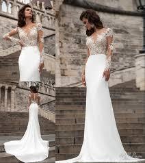 millanova 2016 long sleeve wedding dresses mermaid scoop vintage