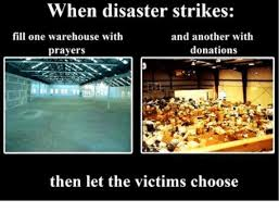Warehouse Meme - when disaster strikes fill one warehouse with and another with