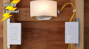 Wireless Light Fixtures by How To Wire The Lutron Caseta Dimmer Switch And Wireless Remote