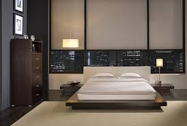 Modern Platform Bedroom Sets Furniture Minimalist Wood Queen Size Bed Frame Design Idea Photo