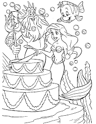 mermaid coloring pages coloringpages1001
