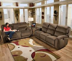Southern Sofa Beds Casual Power Console Sofa With Storage And Cup Holders By Southern