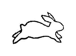 hopping bunny rabbit rabbit hopping pencil and in color rabbit