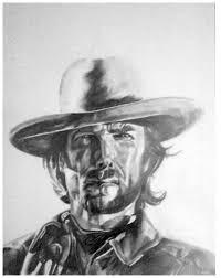 clint eastwood cowboy portrait by bicnarok on deviantart