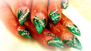 stiletto nail art design tutorial youtube