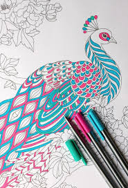 step by step coloring peacock feathers the coloring book club