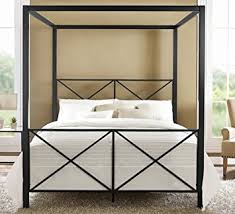 Bed Frame With Canopy Dhp Rosedale Metal Canopy Bed Size Black
