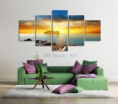 aliexpress com buy 5 pcs sunshine sea painting on canvas home