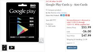 play 10 gift card deal alert costco selling three packs of 20 play gift cards