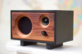speaker design fawn in ebony u0026 redwood u2014 salvage audio california crafted