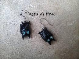 how to make halloween jewelry orecchini a pipistrello tutorial bat earrings tutorial easy