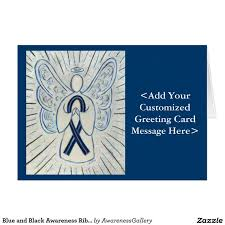 custom awareness ribbons 191 best blue and black awareness ribbon images on