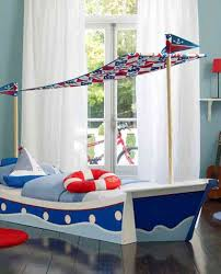 bedroom wonderful kids room decor inspiration with blue boat bed