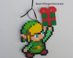 legend of zelda christmas ornaments link and zelda christmas
