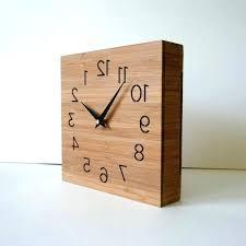 Simple Modern Desk Simple Modern Desk Alarm Clock Wooden Box Wall Or Desktop