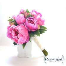 The Pink Peonies by Pink Peony Bouquet Peony Wedding Bouquet Pink Peonies