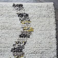 diamond crag wool shag rug west elm uk