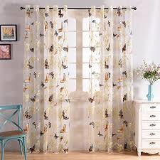 rideaux voilages cuisine top finel rideaux voilages en voile papillons de fenêtre pour salon