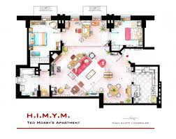 Floor Plan Furniture Clipart From Friends To Frasier 13 Famous Tv Shows Rendered In Plan