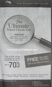 tua lobang the planet traveller u0027s ultimate travel goods fair
