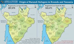 Burundi Africa Map by Burundi Refugee Flows Continue To Increase U2013 Africa Center
