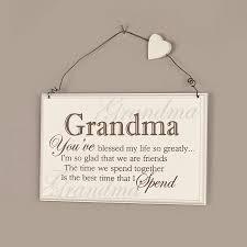 grandparent plaques wooden blessed message plaque by dibor