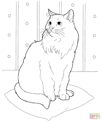 siberian cat coloring page free printable coloring pages