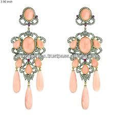 Designer Chandelier Earrings Designer Chandelier Earrings Coral Ruby Gemstone Chandelier Gold