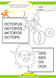 worksheet words that start with o for kids wosenly free worksheet
