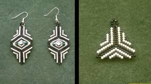 beginner earrings beading4perfectionists earrings how to bead a triangle with